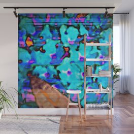 Blue Butterfly Bush  Wall Mural