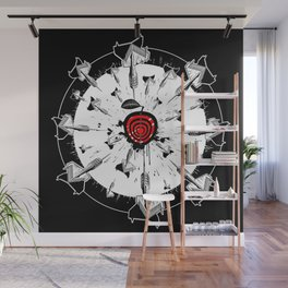 Abstract installation on the theme of darts. Wall Mural
