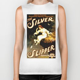 Vintage Sliver Slipper Theater Poster Biker Tank