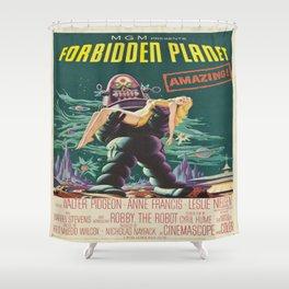 Vintage poster - Forbidden Planet Shower Curtain