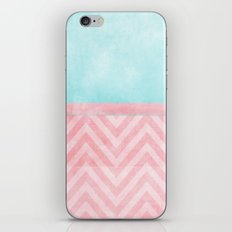 pink and turquoise chevron iPhone & iPod Skin