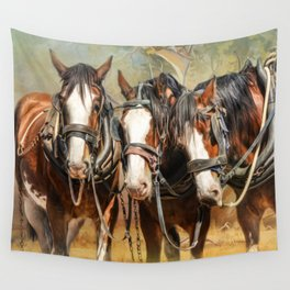 Clydesdale Conversation Wall Tapestry