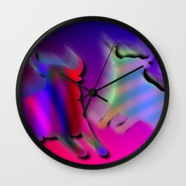 Two bulls Wall Clock