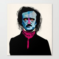 poe Canvas Prints featuring Poe by Alvaro Tapia Hidalgo