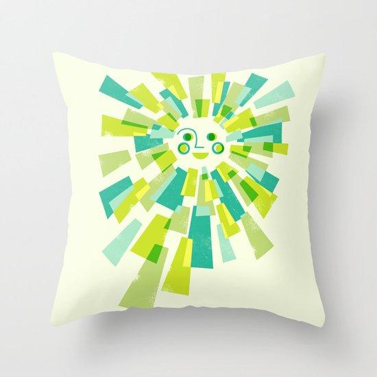 Modern Sunburst Throw Pillow