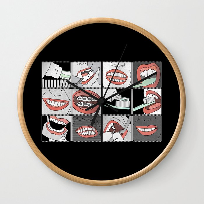 Dentistry horizontal Wall Clock