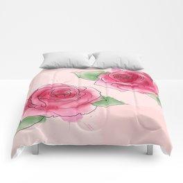 Rose Watercolor Comforters