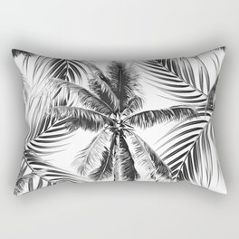 South Pacific palms II - bw Rectangular Pillow