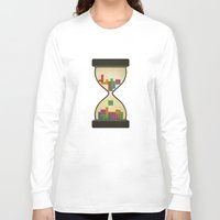 tetris Long Sleeve T-shirts featuring tetris by gazonula