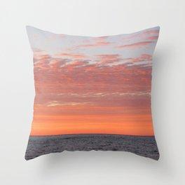 Watercolor Sunset, Cape Breton 03, Nova Scotia, Canada Throw Pillow