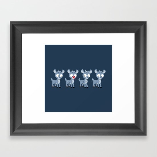 Hey look, it's Rudolph! Framed Art Print