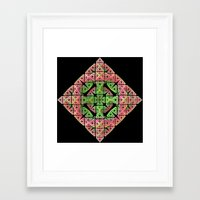 diamond Framed Art Prints featuring Diamond by Lyle Hatch