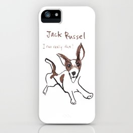 Jack Russel - I run really fast! iPhone Case