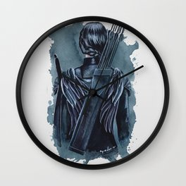 Katniss | Cinna's Sketchbook - Watercolor Print Wall Clock