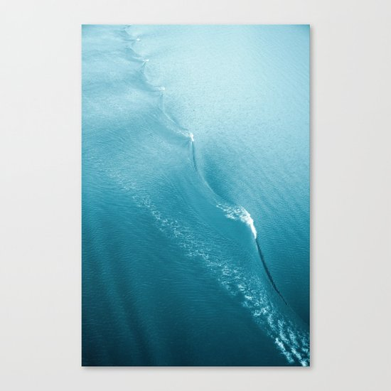 Ripple in Time (aqua) Canvas Print