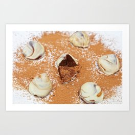 White Chocolate Truffels Art Print