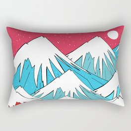 Red Sky Mounts Rectangular Pillow
