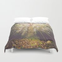 outdoor Duvet Covers featuring The taller we are by HappyMelvin