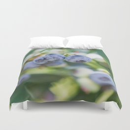 Perfect Pair at the Blueberry Patch Duvet Cover