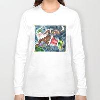 santa Long Sleeve T-shirts featuring Santa by Shelley Ylst Art
