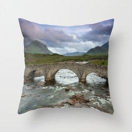 Bridge to the Valley Beyond Throw Pillow