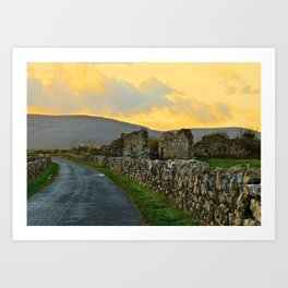 The Road Back to Dublin Art Print