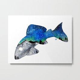 STARRY NIGHT GALAXY PLECO SUCKER FISH ARTWORK PAINTING Metal Print