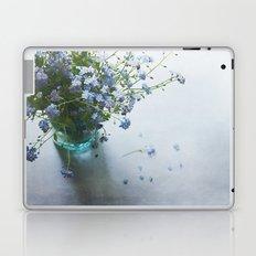 Forget-me-not bouquet in Blue jar Laptop & iPad Skin