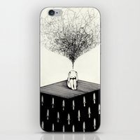 anxiety iPhone & iPod Skins featuring Anxiety by Felicia Chiao