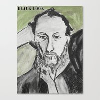 writer Canvas Prints featuring Writer by black door