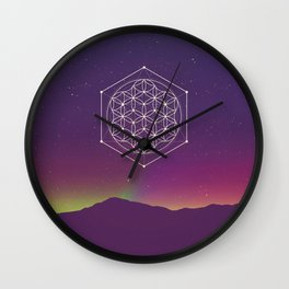 Flower Of Life 002 Wall Clock