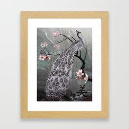 Spade's Peacock Framed Art Print