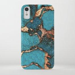 GEMSTONE  & GOLD AQUA iPhone Case
