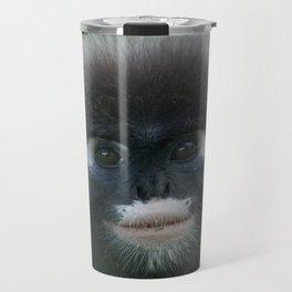 Dusky Leaf Monkey Portrait Travel Mug