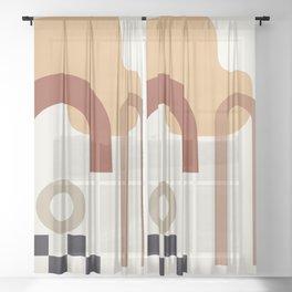 // Shape study #23 Sheer Curtain
