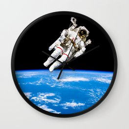 Astronaut Bruce McCandless Floating Free Wall Clock