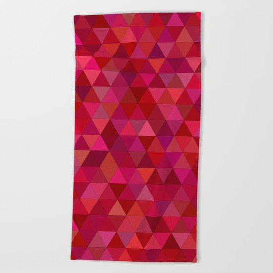 Bloody triangles Beach Towel