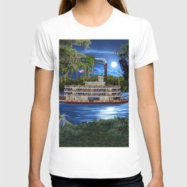 Mystcal Moonlight Cruise Down the Bayou T-shirt