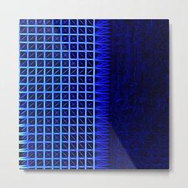 led blue Metal Print