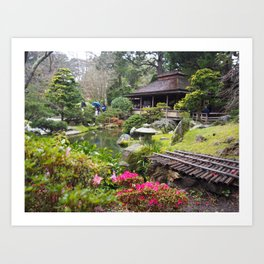 Japanese Tea Garden Flowers Art Print