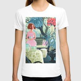 Flowered terrace T-shirt