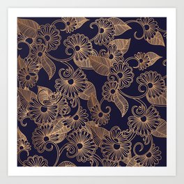 Flower Golden Art Print