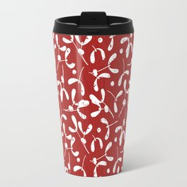 Rustic Mistletoe - Red Travel Mug