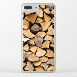 firewood Clear iPhone Case