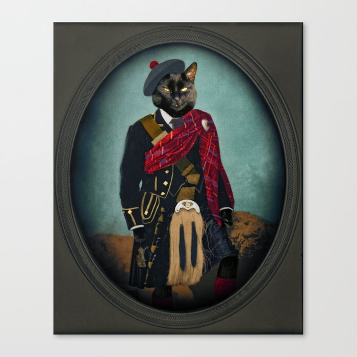 Boris the Bruce, Mouser-in-Chief Canvas Print