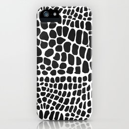 black and white snakeskin iPhone Case