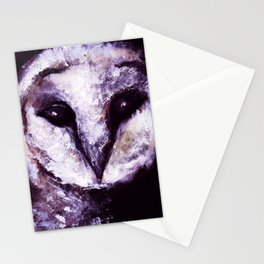Barn Owl Painting by Lil Owl Studio Stationery Cards