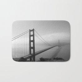 The Golden Gate Bidge In A Mist Bath Mat