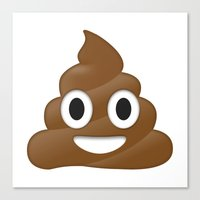 emoji Canvas Prints featuring Emoji Poo by Emojis on Mugs, Tshirts, Phone Cases & M
