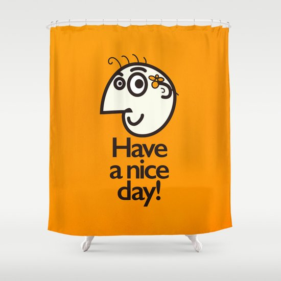 Have A Nice Day Happy Character Shower Curtain